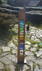 Scalaria-Lead Glass-wood sculpture