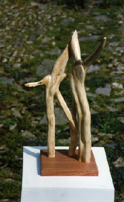 The Witches-wood sculpture