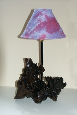 Tree-of-Life Coffee Table Lamp Wood Sculpture